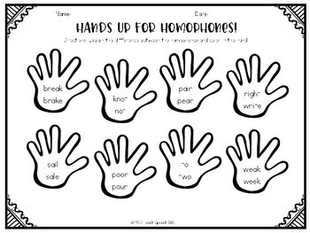 Hands Up for Homophones