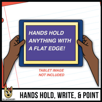 Hands and Paper Seatwork Clip Art: Student Perspective