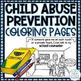 Child Abuse Prevention & Erin's Law: Set of 5 Coloring Pages!