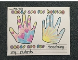 Hands are for helping Activity/Craft