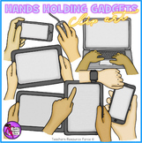 Hands holding Technology clip art: gadgets and technology clipart in the office