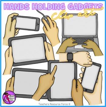 Hands holding Technology clip art: gadgets and technology