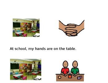 Hands in Pants Social Story