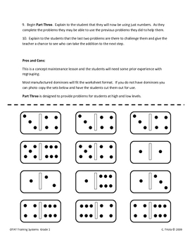 Hands-on Domino Addition With Regrouping for First Grade