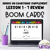 Hands on Equations Supplement - Lessons 1 - 7 - Boom Cards