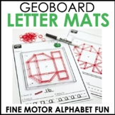 Hands-on Geoboard Alphabet Mats