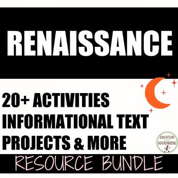 Renaissance Interactive Notebooks, Activities, Projects, T