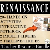 Renaissance Interactive Notebooks, Activities, Projects, Text Resource Bundle