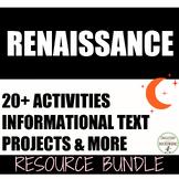 Renaissance Interactive Notebooks, Activities, Projects, Text Unit Bundle