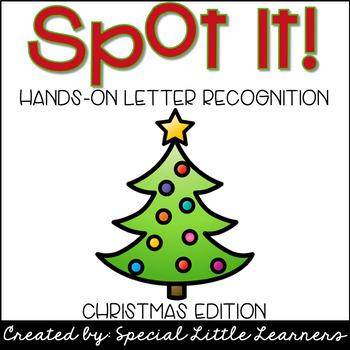 Hands-on Letter Recognition {Christmas Themed}