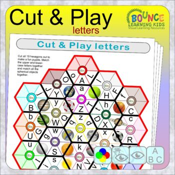 Hands-on Letters 1 (print and cut out game for Literacy and Visual perception)