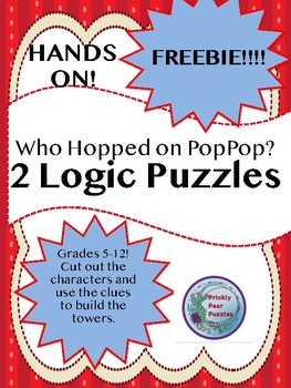 Logic Puzzle, Who Hopped on PopPop, Hands ON!