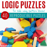 Hands on Logic Puzzles with Pattern Blocks