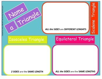 Hands-on-Mat to Sort Scalene, Equilateral Triangles, and Isosceles Triangles