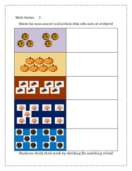 Hands on Math Center Manipulatives and Activities for Number to Value Mastery