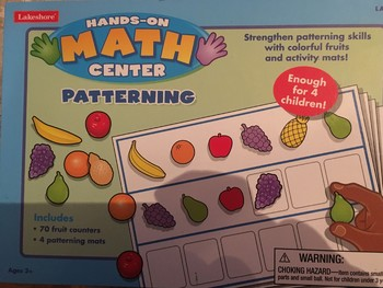 Hands-on Math Center: Patterning