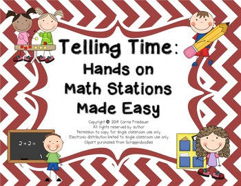 Hands-on Math Stations Made Easy: Telling Time