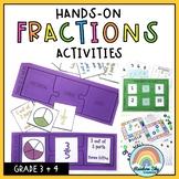 Hands on Math activities - Fractions Math centres Grade 3 - 4