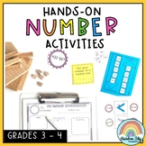 Hands on Math activities - Number sense Math centres Grade 3 - 4