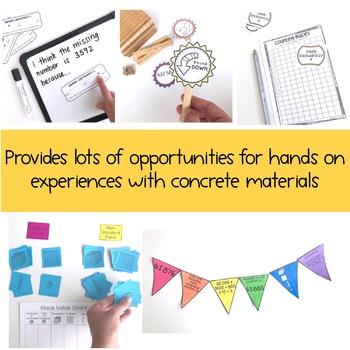 Hands on Math activities - Number sense Math centres Grade 3 - 4