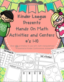 Hands on Math for TK and Kinder by Kinder League