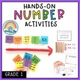 Hands on math activities - Number sense math centres  - Grade 1