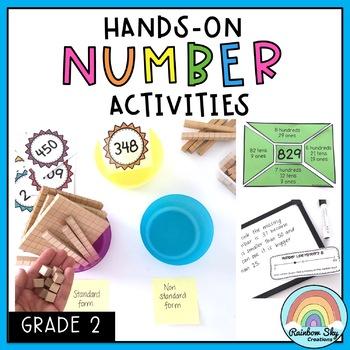 Hands on Math activities - Number sense Math centres - Grade 2