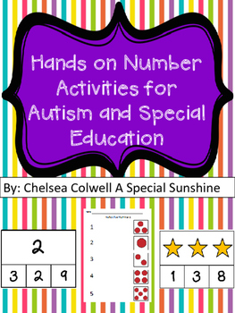 Hands on Number Activities for Autism and Special Education