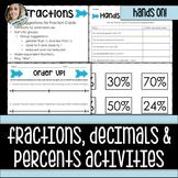 Fractions, Decimals and Percents Activities