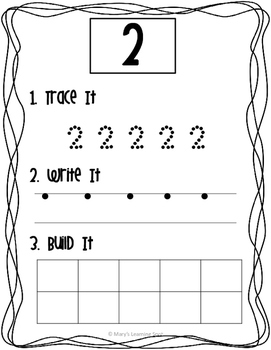 Hands-on Number Worksheets