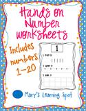 Hands-on Number Worksheets