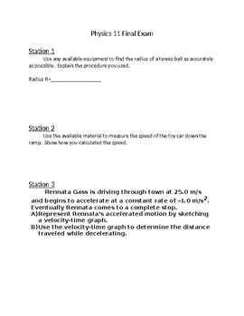 Hands on Physics Examm