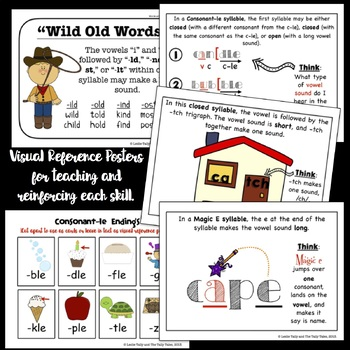 Hands-on Reading & Spelling Materials for Phonics Interventions by Syllable Type