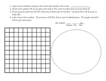 Hands on Regrouping mats for visual and hands on learners