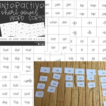 Hands on Short Vowel Word Sorts