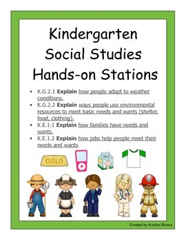 Hands-on Social Studies Stations: Economics, Community Helpers, Wants ands Needs