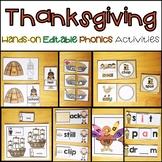 Thanksgiving Word Work Editable