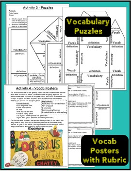Vocabulary Activities for Use with Any Words
