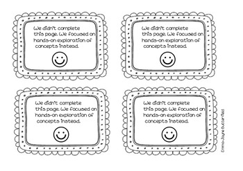 Hands on activity book template