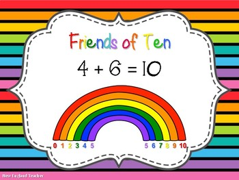 Hands-on and Mental Math Addition Strategies Posters with Rainbow Theme