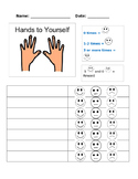 Hands to Self Behavior Chart
