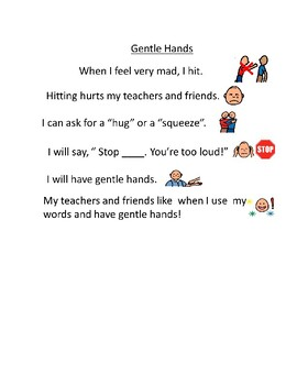 Gentle and Safe Hands-Social Story