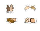 Handshake, Fist Bump, High Five, Pinkie Promise Visuals Co