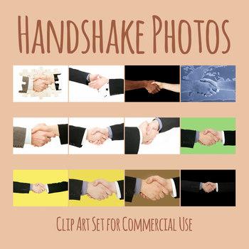 Handshake / Hand Shake Photos / Photographs Clip Art Set Commercial Use