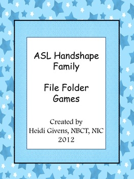 Handshape File Folder Games