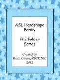 Handshape File Folder Games