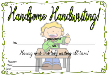 Handsome Handwriting