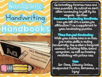 Handsome Handwriting Handbooks {Manuscript Handwriting Practice}