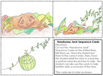 """Handsome Jack Bundle: A Halloween Story with """"Stop and Draw"""" Comprehension Boxes"""