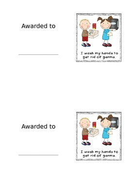 Handwashing Award